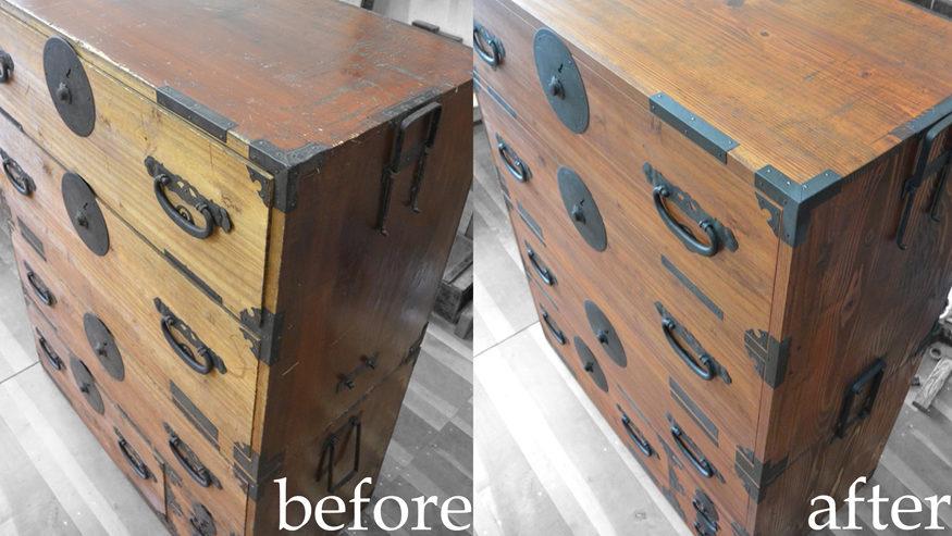 時代箪笥を修理復元
