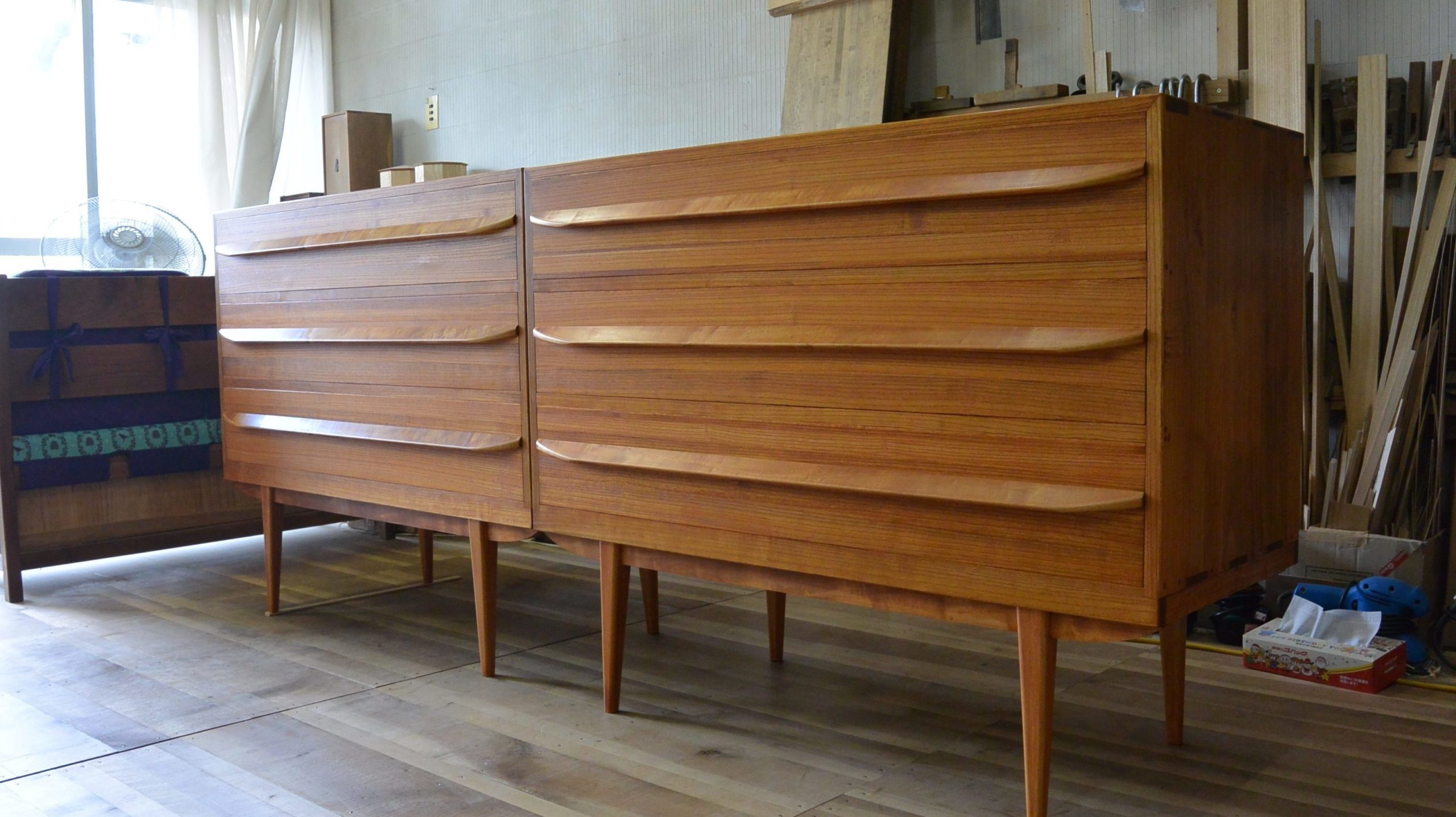 二竿の桐たんすから四種類、5台の家具に再生