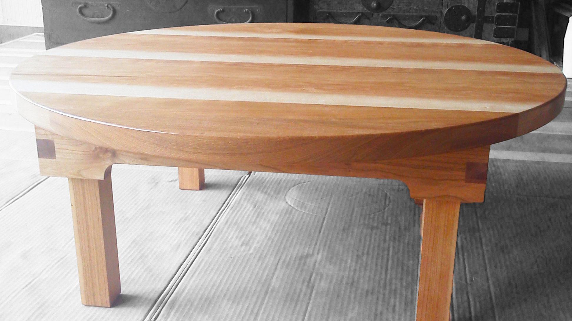 シュリザクラで作った折りたたみ式のちゃぶ台